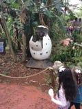 Dino Park em Foz faz Iguassu fotos de stock
