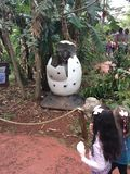 Dino Park in Foz doet Iguassu stock foto's