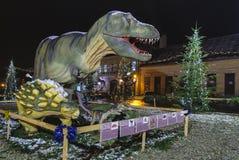 Dino Park Rasnov Rumänien Arkivbilder