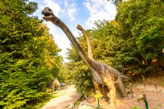 Dino Park Slovakien Royaltyfri Fotografi