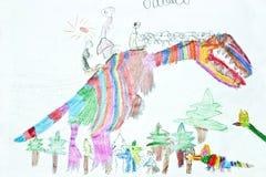 Dino Rainbow Immagine Stock Libera da Diritti