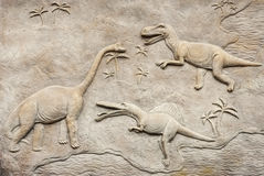 Dino relief 2 Royalty Free Stock Photo
