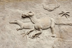 Dino relief 3 Royalty Free Stock Photography