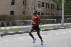 Dino Sefir Ethiopia races in the Boston Marathon coming in 8th with a time of 2:14:26 on April 17, 2017 Royalty Free Stock Photography