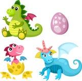 Dino-Set Lizenzfreies Stockbild
