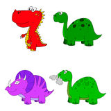 Dino set cartoon Stock Photos