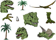 Dino set color Stock Image