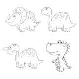 Dino set icon contour Stock Photo