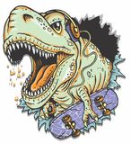 Dino Skateboarder Royalty-vrije Stock Foto's