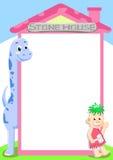 Dino stone house Royalty Free Stock Photo