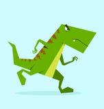 Dino verde en la acción Imagen de archivo libre de regalías