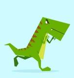 Dino verde na ação Fotografia de Stock Royalty Free