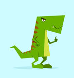 Dino verde nell'azione Fotografia Stock Libera da Diritti