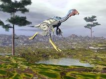 Dinoasaur Caudipteryx - 3D представляют Стоковые Фотографии RF