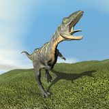Dinoasaur do Aucasaurus que ruje - 3D rendem Fotografia de Stock