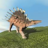 Dinoasaur do Kentrosaurus que ruje - 3D rendem Imagens de Stock