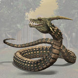 Dinoconda #02. Fantasy Series - Image contains a Clipping Path / Cutting Path for the main object Stock Photos