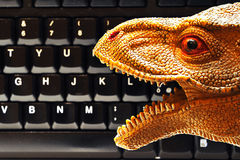 DinoKeyboard. Keyboard for Dummies in the new age of hardware Stock Images