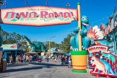 DinoLand U.S.A. at the Animal Kingdom at Walt Disney World. Orlando, Florida: December 1, 2017: DinoLand U.S.A. at the Animal Kingdom at Walt Disney World. The royalty free stock images