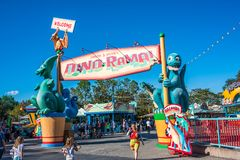 DinoLand U.S.A. at the Animal Kingdom at Walt Disney World. Orlando, Florida: December 1, 2017: DinoLand U.S.A. at the Animal Kingdom at Walt Disney World. The stock photo