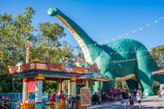 DinoLand U.S.A. at the Animal Kingdom at Walt Disney World. Orlando, Florida: December 1, 2017: DinoLand U.S.A. at the Animal Kingdom at Walt Disney World. The royalty free stock image