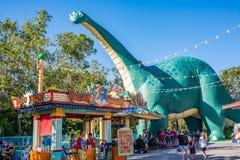 DinoLand U.S.A. at the Animal Kingdom at Walt Disney World. Orlando, Florida: December 1, 2017:  DinoLand U.S.A. at the Animal Kingdom at Walt Disney World.  The Royalty Free Stock Image