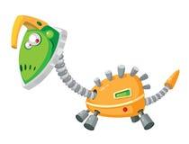 Dinorobot mechanisch vektor abbildung