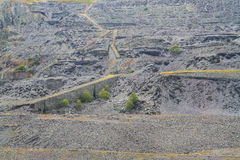 Dinorwic Slate Quarry, massive excavation of hillside. Stock Photo