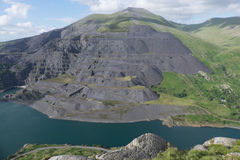 Dinorwic slate quarry. Royalty Free Stock Photography