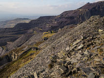 Dinorwig slate quarry. Stock Image