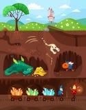 Dinos illustration stock