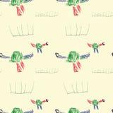 Dinos-child& x27; s-Zeichnung Lizenzfreie Stockbilder