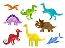 Dinos. Vector illustration of a dinos set Royalty Free Stock Photos