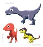 Dinosaurów ptaków drapieżnych wektoru ilustracja Zdjęcie Stock