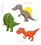 Dinosaurów Theropods wektoru ilustracja Fotografia Stock