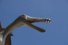 Dinosaur. Menacing prehistoric flying bird with the big teeth Stock Images