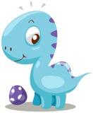 Dinosaur. Illustration of isolated cartoon dinosaur on white background Royalty Free Stock Image