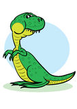 Dinosaur. The big green cheerful dinosaur Stock Photography