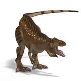 Dinosaur Acrocanthosaurus. With Clipping Path over White Royalty Free Stock Image