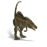 Dinosaur Acrocanthosaurus. With Clipping Path over White Stock Image