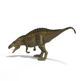 Dinosaur Acrocanthosaurus. With Clipping Path over White Royalty Free Stock Photography