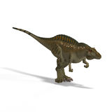 Dinosaur Acrocanthosaurus. With Clipping Path over White Stock Photography