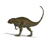 Dinosaur Acrocanthosaurus. With Clipping Path over White Stock Photos