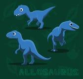 Dinosaur Allosaurus Cartoon Vector Illustration Stock Photo