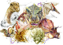 Dinosaur animal illustration. royalty free illustration