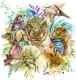 dinosaur animal illustration. Royalty Free Stock Photos