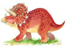 Dinosaur animal illustration. Dinosaur. Dinosaur Watercolor drawing. Dinosaur illustration. Cartoon dinosaur Stock Photos