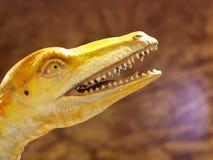 Dinosaur animal reptile figure colorful painted head Stock Photo