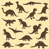 Dinosaur,animal. Vector set silhouettes of dinosaur,animal illustration Royalty Free Stock Images