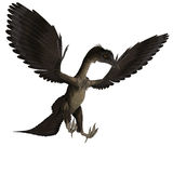 Dinosaur Archaeopteryx. 3D rendering with clipping path and shadow over white vector illustration